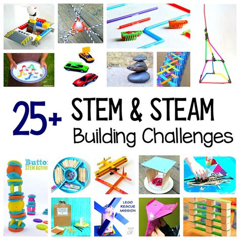 challenges for 25 stem challenges for child centered projects