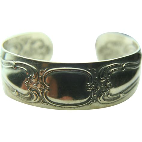 silver spoon jewelry gorham sterling silver spoon cuff bracelet from ecexchange