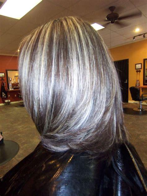 grey highlights in dark hair gray highlights in dark brown hair google search my