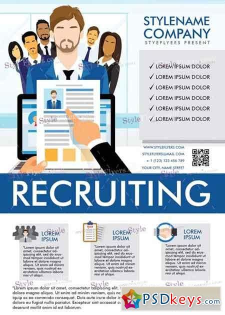 recruitment flyer template recruiting v5 psd flyer template 187 free photoshop vector stock image via torrent