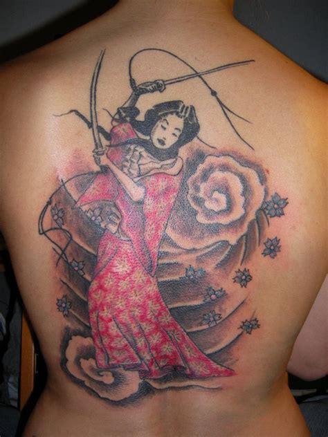 geisha tattoo with sword geisha tattoo images designs