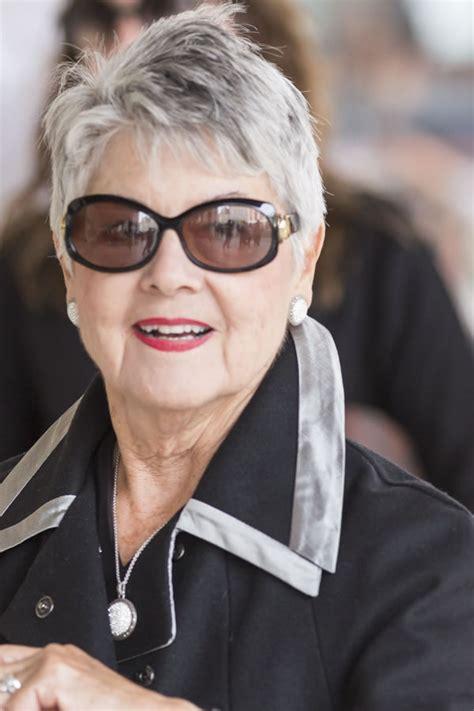 modern gray frame haircut celebrating women with fabulous short gray hairstyles