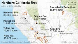 northern california fires by the numbers la times