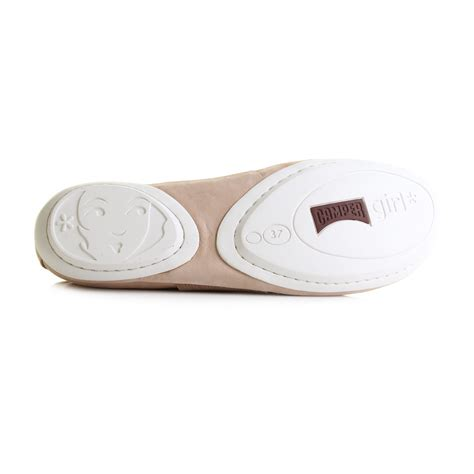 womens cer right pale pink flat leather ballerina