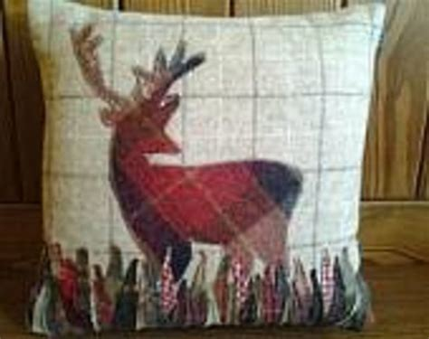 Handmade In Scotland - gorgeous stag cushion handmade in scotland picture of