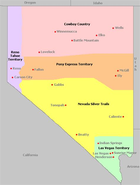 Search Nevada Map Of Nevada