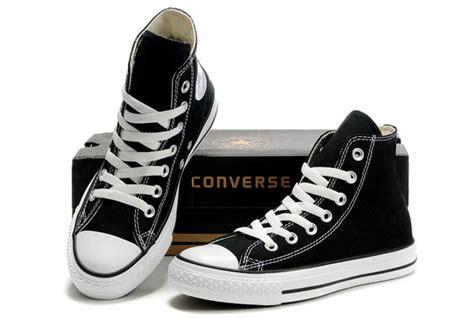 Sepatu Converse High Black black converse high tops chuck all canvas shoes