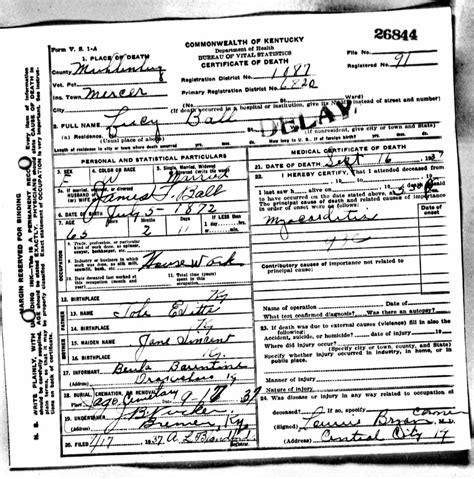 lucille ball s death certificate cause of death was acute 100 lucille ball death lucille ball she u0027s a