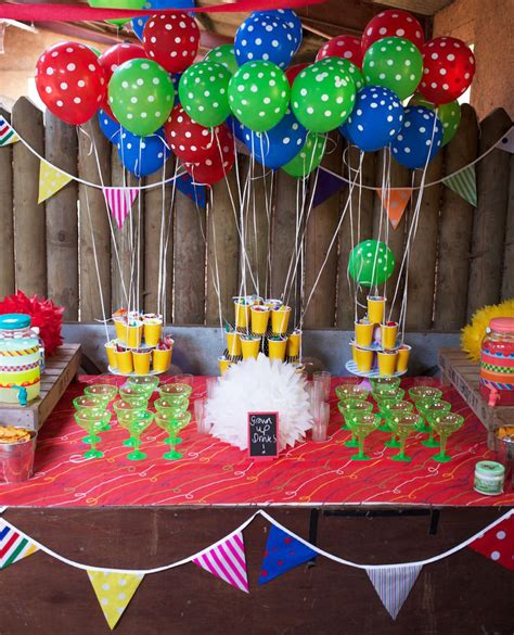 themes for grown up birthday parties colorful circus carnival party ideas simonemadeit com