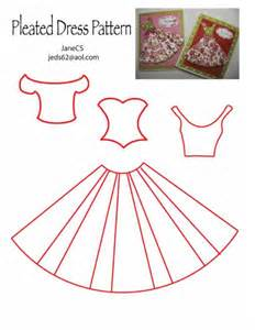 dress template for card dress pattern by janecs cards and paper crafts at