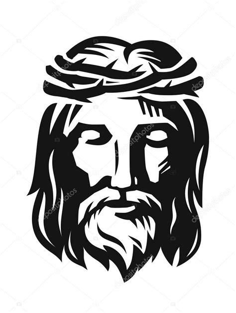 Vector o rosto de Jesus — Vetores de Stock © bioraven