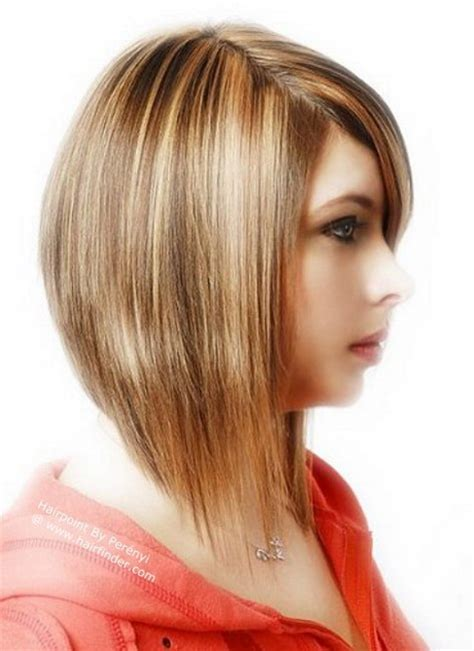 medium hairstyles that are angled towards the face razored ends bob newhairstylesformen2014 com