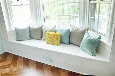 bay window seating bench with storage building a window seat with storage in a bay window