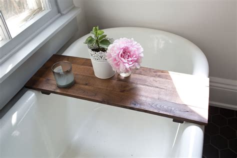 Bathtub Shelf Tub Caddy by Rustic Wood Bathtub Tray Walnut Bath Tub Caddy Wooden