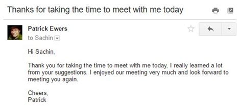 thank you letter to client after session how to write a great follow up email after a meeting