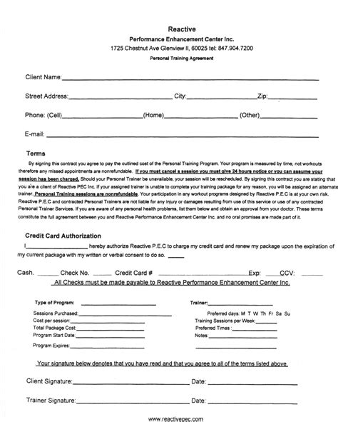 Personal Agreement Template by Template Personal Contract Sle