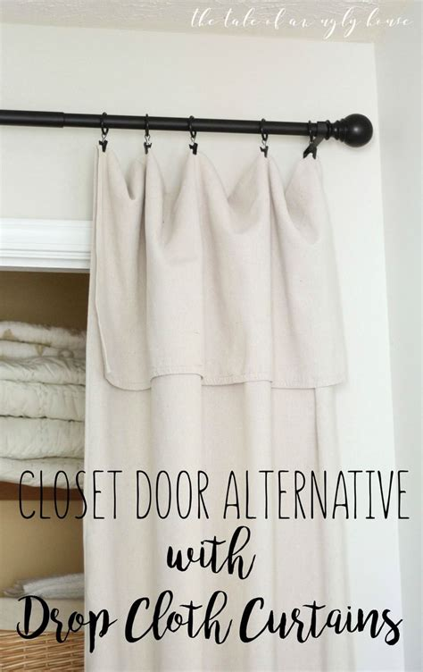 the 25 best closet door curtains ideas on