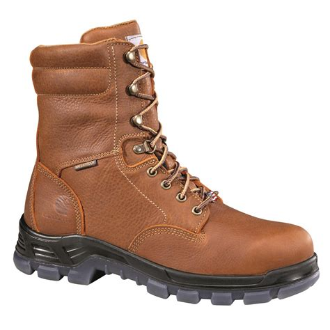 mens work boots made in usa carhartt s made in the usa waterproof 8 quot work boots