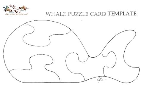 Luck Card Orca Template by Puzzle Cards Card Templates Template And Free