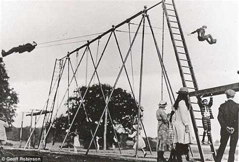 who invented the swing world s first playground swing says the daily mail not