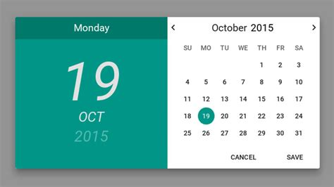 pattern javascript date 20 awesome material design date time picker ninodezign com