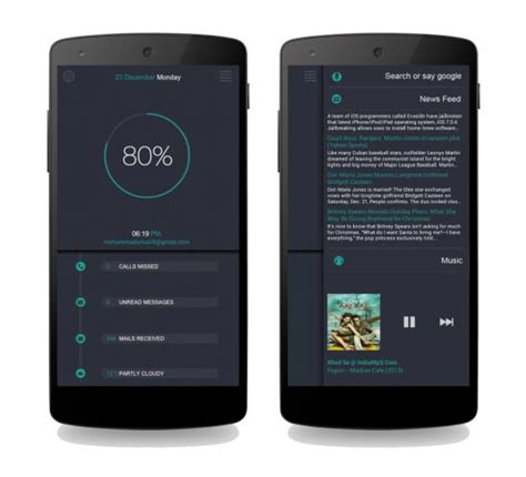 cool android widgets 30 cool customized android home screens hongkiat