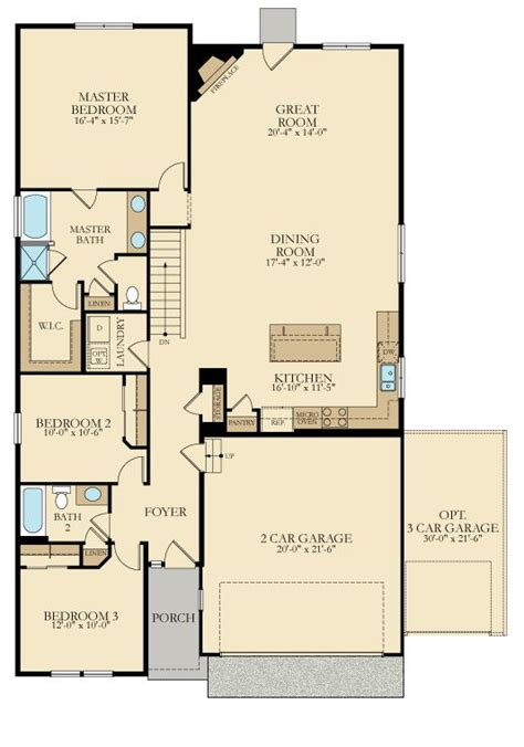 1900 Sq Ft House Plans by The Harrison This Ranch Design From Lennarcolorado With