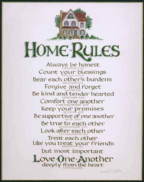home rule inspiration