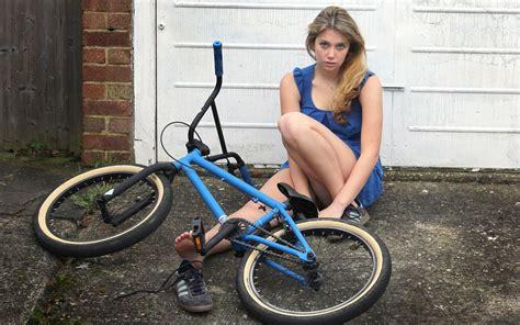 wallpaper girl and bike girl bicycle wallpaper www pixshark com images