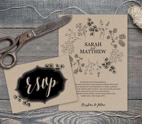 diy rustic wedding invitations templates rustic wedding invite template printable wedding