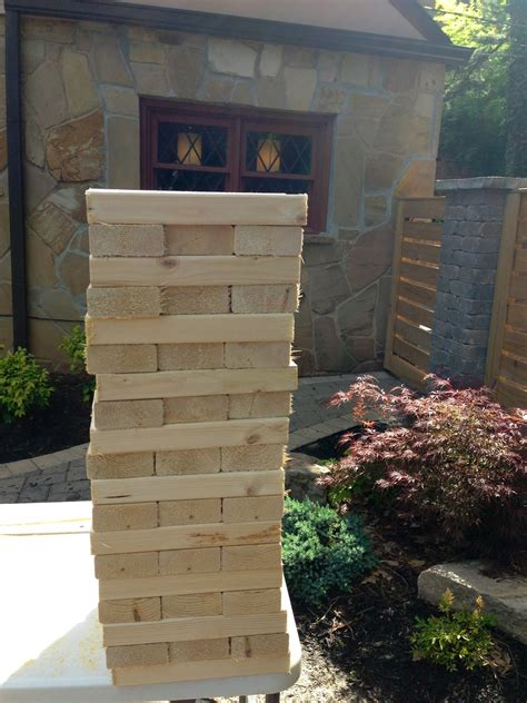 backyard jenga decorella diy backyard jenga