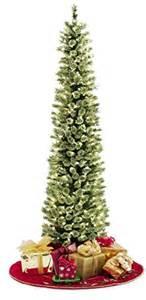 soft feel pre lit christmas tree 7 ft slim pine