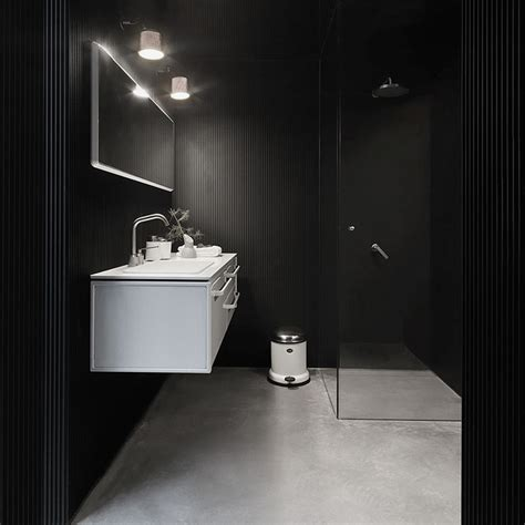 designboom bathroom vipp s plug and play shelter serves as a comfortable retreat