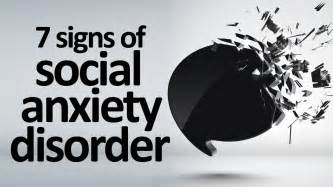 7 signs and symptoms of social anxiety disorder youtube