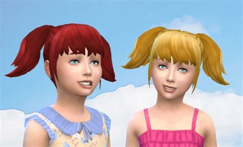 pigtails hair sims 4 mod the sims high pigtails for girls by kiara24 sims 4