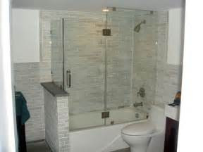 tub shower combo glass doors tub enclosures glass
