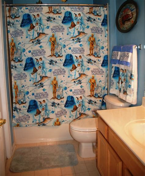 star wars curtains and bedding shower curtain made with vintage star wars bed sheet ready to