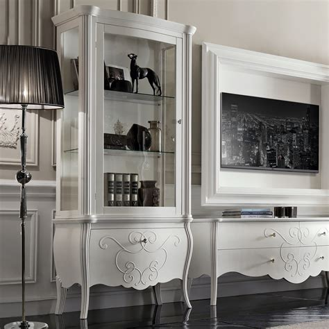white display luxury italian white display cabinet