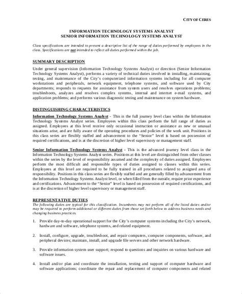 system analyst description 10 systems analyst description templates pdf doc