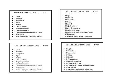 imagenes de listas de utiles escolares lista de 250 tiles escolares 3 176