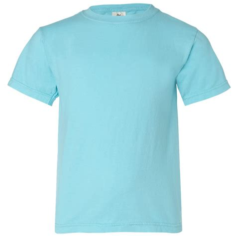 comfort color lagoon blue comfort colors 9018 youth garment dyed ringspun t shirt