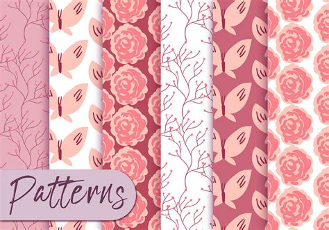 pattern pink soft soft pink roses pattern set download free vector art