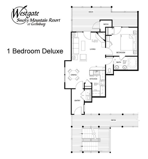 Westgate Smoky Mountain Resort Floor Plans | accommodations westgate smoky mountain resort spa westgate resorts