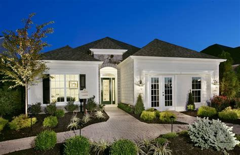 one story homes luxury single story home exteriors equestra howell twp nj new homes centex homes