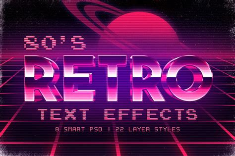 retro 80 s card templates free 55 attractive photoshop text styles effects decolore net