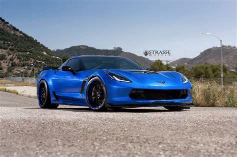 blue corvette laguna blue corvette c7 z06 with strasse wheels gtspirit