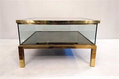 Sliding Coffee Table Sliding Top Coffee Table Glass And Brass At 1stdibs