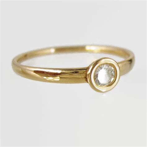 Handmade Gold Engagement Rings - handmade engagement ring daimond ring 14 karat ring