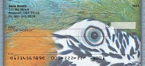 Nucover Tropical Flamingo parrot personal checks birds checks at personalchecksusa