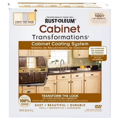 rustoleum kitchen cabinet paint kit shop rust oleum cabinet transformations light base satin